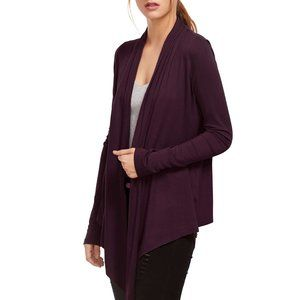 Evelyn Grace Purple Cashmere Asymmetrical Cardigan
